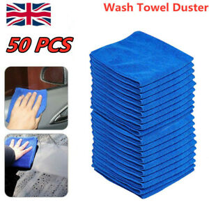 50 LARGE MICROFIBRE CLEANING AUTO CAR DETAILING SOFT CLOTHS WASH TOWEL DUSTER