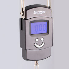 SAGA 50kg/110 lb x 10g/1 oz LCD PORTABLE ELECTRONIC TRAVEL HANGING LUGGAGE SCALE