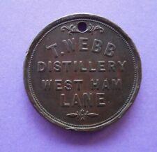 T.Webb Distillery, West Ham Lane / 1 pint 1851 token.