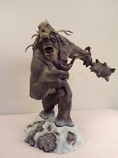 Snow Troll with Dwarf Lord of the Rings Statue Sideshow War in the North rare