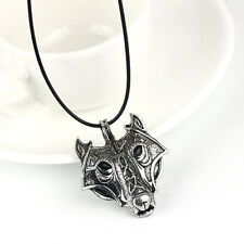 Mens Retro Stainless Steel Wolf Animal Head Pendant Necklace Chain Gift Jewelry