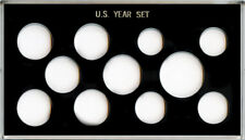 Capital Plastic Meteor 4 x 7 11 Coin U.S. Year Set Holder Small Dollar 26.5mm