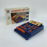 Vintage MB Board Game Numbers Up 100% Complete Skill Memory Race Against Time