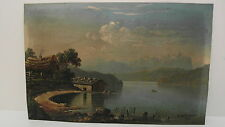 """""""B.Mittenhuber 1875"""" hübsches kleines Ölbild auf Blech gemalt"""