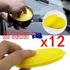 12Pcs Car Waxing Foam Polishing Applicator Clean Paint Cleaning Pads Sponge BK