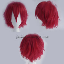 Boy/Girls Anime Fashion Short Layered Wig Cosplay Full Wigs 20 Shades Yellow US