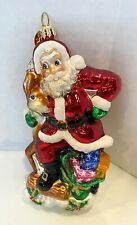 Christopher Radko Santa with Reindeer 6 inches