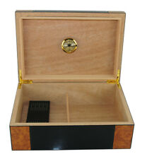 Quality 50+ CT Count Cigar Humidor Humidifier Wooden Case Box Hygrometer u