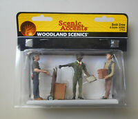 G Scale Dock Crew Workers Figures Woodland Scenic Accents 2565