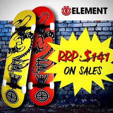 "Element Complete Skateboard [Dragon Series: 2 Color Themes] 31""Canadian MaplePly"