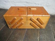 Nähkasten, 3 Etagen, Holz, gebraucht
