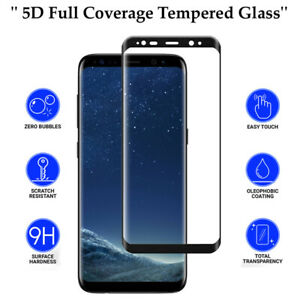 5D Anti Scratch 9H Tempered Glass Screen Protector for Samsung Galaxy S8