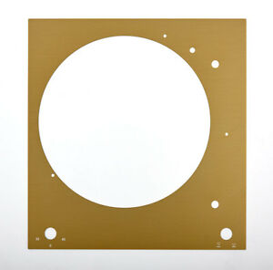 Cover Plate Face Plate For Thorens Td 150 Mk II Gold Shiny Anodized