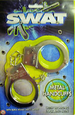 SWAT Children's Toy Metal Handcuffs with Keys & Safety Release - Fancy Dress