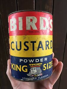 King size Birds Custard VERY LARGE DUBLIN IRISH IRELAND TIN