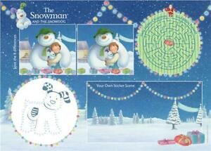 The Snowman & The Snowdog Christmas Activity Placemats with Stickers x 6