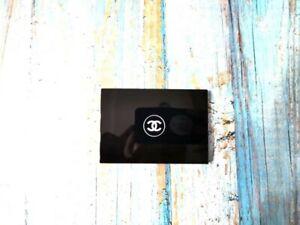 New Chanel Slim Compact Mirror Black Rare VIP gift