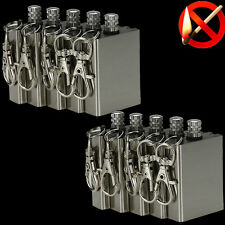10x Survival Emergency Gear Camping Fire Starter Flint Metal Match Lighter Bid