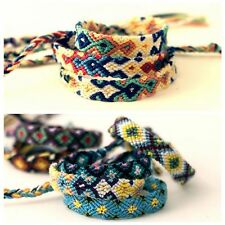 10pcs/lot Handmade Woven Rope String Hippy Boho Mixing Color Friendship Bracelet
