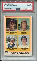 1978 '78 Topps Baseball #703 Jack Morris Rookie Card RC Graded PSA MINT 9