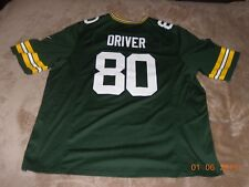 Vintage Nike Green Bay Packers Donald Driver NFL Home Jersey  (size XXL)