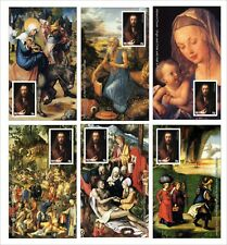 2010 ALBRECHT DURER PAINITNGS ART 12 SOUVENIR SHEETS MNH UNPERFORATED