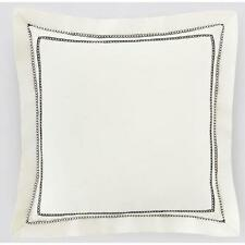 TREVARNO Ivory White COTTON Sateen DECORATIVE PILLOW Sham Euro 16 X 10  NWT