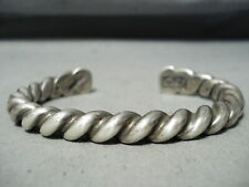 Authentic Heavy Coiled Orville Tsinnie Sterling Silver Bracelet