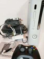 Xbox 360 White Consol Bundle Hard Drive Remote All Cords Network Adapter...