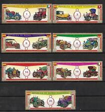 Voitures Guinée Equatoriale (17) série complète 7 timbres oblitérés