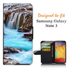 Samsung Galaxy Note 3 Wallet Flip Phone Case Cover Waterfall Pretty Y00937