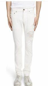 Saint Laurent Mens Distressed Jeans. 32. $750
