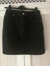 TOPSHOP Black Denim Skirt 12