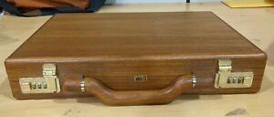 Vintage Solid Wood Briefcase w/ Presto Locks