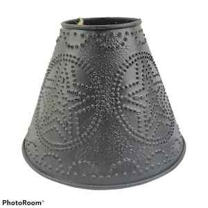 Punched Tin Star Lamp Shade in Rustic Brown