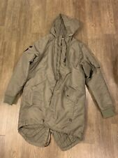 Mens Madison Supply Long Trench Style Jacket Green XXL Army