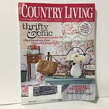 Country Living Magazine Illust Free Shipping March 2009 Thrifty & Chic