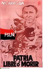 Political Cuban POSTER.NICARAGUA.Sandino.FSLN rebel.16.Revolution History art
