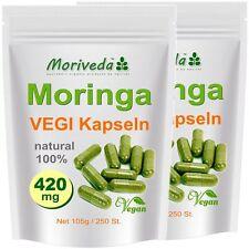 Moringa 500 Oleifera VEGI Kapseln á 420mg - 100% Vegane ÖKO Rohkost (2x250)