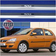 Vauxhall Corsa 'C' SXi Silver Steel Kick Plate Car Door Sill Protectors Set K174