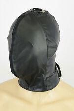 AW-907 Double ledermaske,leather mask,hood,masque n cuir haube leder maske