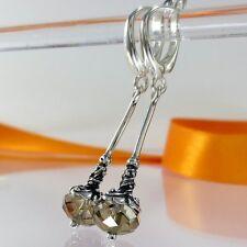 A290 Ohrringe 925 Silber Schmuck mit Swarovski Elements Kristall Jugendstil Neu