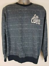 Lee Cooper Mens Size XL Sweater Long Sleeve Graphic Logo Navy Marl B332-13