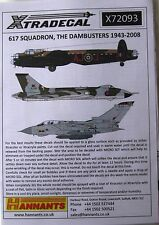 Xtradecal 1/72 X72093 no 617 sqd RAF 'The Dambusters's 1943-2008 DECAL set