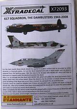 Xtradecal 1/72 X72093 No 617 Sqd RAF 'The Dambusters' 1943-2008 decal set