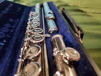 Gemeinhardt Elkhart M2 Flute 1970-1972 in original case + cleaning rod