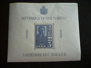 Stamps - San Marino - Scott# 186 - Souvenir Sheet
