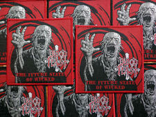 BLOOD FEAST [red] --- Official Woven Patch / Morbid Saint Demolition Hammer