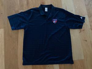 euc! Adidas FC DALLAS SOCCER  XL Navy Blue Polo Shirt