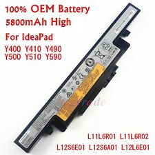 OEM New Battery For Lenovo IdeaPad Y400P Y410P Y490P Y490M Y500P Y510P Y590P